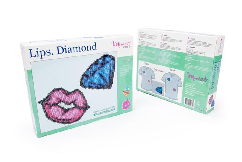 Buy Bead embroidery kit-Lips. Diamond-11101_1