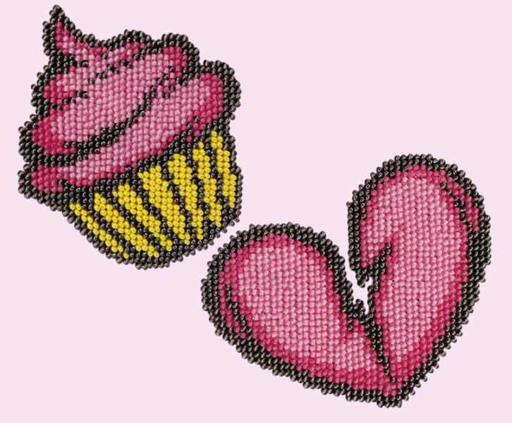 Buy Bead embroidery kit-Cupcake. Heart-11102