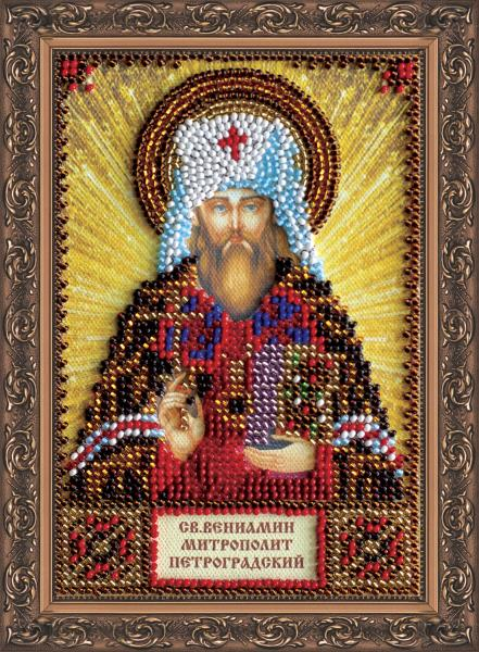 Mini Bead embroidery kit-Icon-St. Benjamin-AAM-085