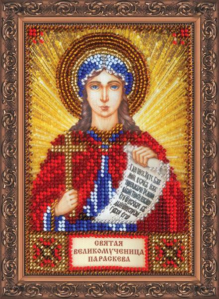 Mini Bead embroidery kit-Icon-Saint Paraskeva (Praskovya)-AAM-107