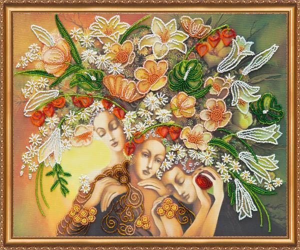 Buy Bead embroidery kit - Goddess of flowering-AB-325