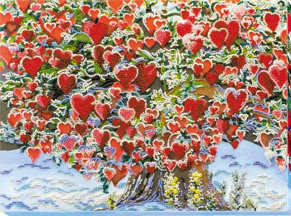 Buy Bead embroidery kit - Tree of Love-AB-607