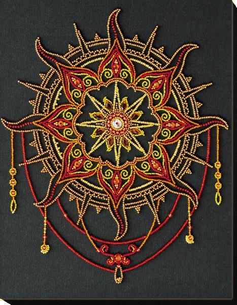 Buy Bead embroidery kit - Sun pattern-AB-770