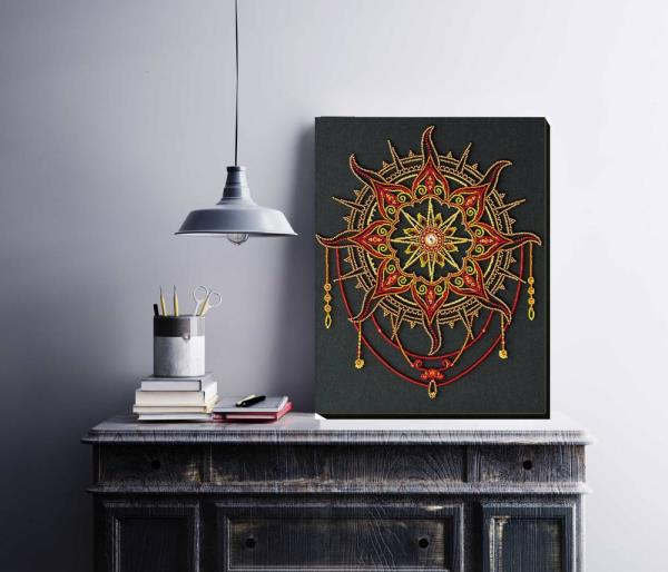 Buy Bead embroidery kit - Sun pattern-AB-770_2