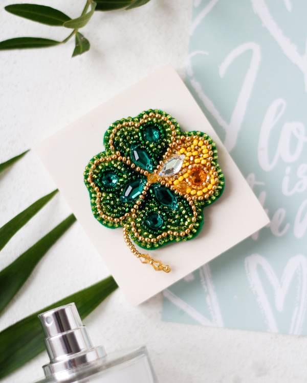 Buy DIY Jewelry making kit - Good luck leaf-AD-093