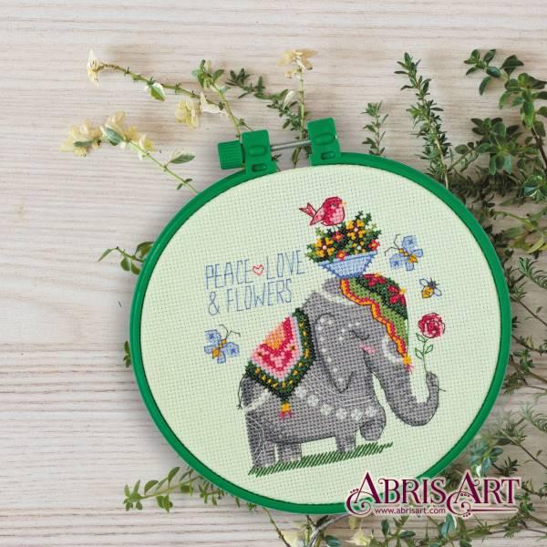 Buy Mini Cross stitch kit - Elephant-AHM-007