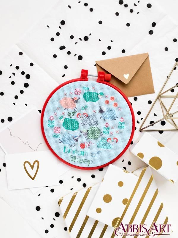 Buy Mini Cross stitch kit - Lambs before a dream-AHM-018