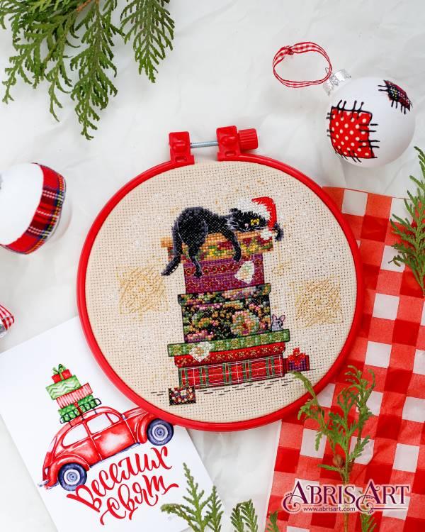 Buy Mini Cross stitch kit - Cat and mouse-AHM-030
