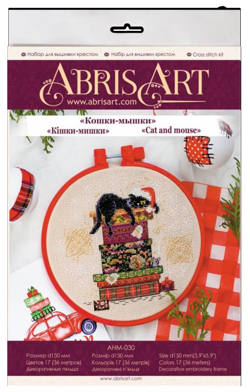 Buy Mini Cross stitch kit - Cat and mouse-AHM-030_1