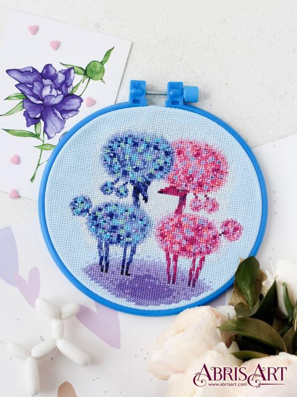 Buy Mini Cross stitch kit - Sweet couple-AHM-035