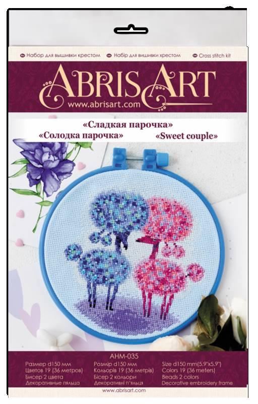 Buy Mini Cross stitch kit - Sweet couple-AHM-035_1