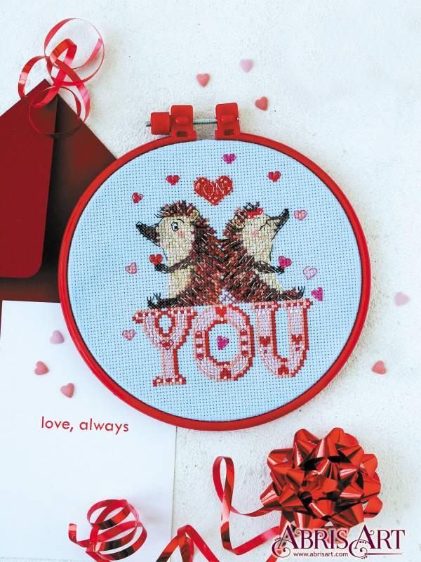 Buy Mini Cross stitch kit - Loving hedgehogs-AHM-036