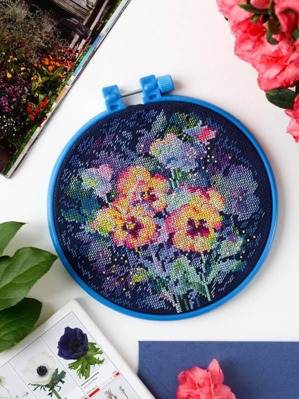 Buy Mini Cross stitch kit - Watercolor viola-AHM-041