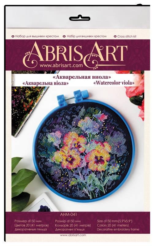 Buy Mini Cross stitch kit - Watercolor viola-AHM-041_1