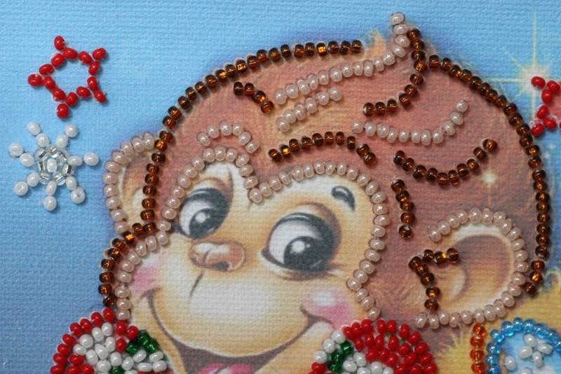Buy Mini Bead embroidery kit - Funny monkeys-AM-114_1