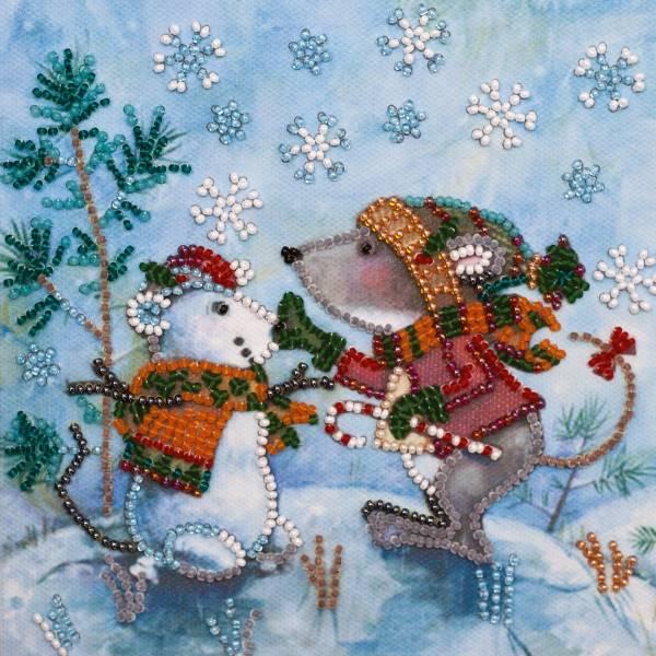 Buy Mini Bead embroidery kit - Snow friend-AM-212