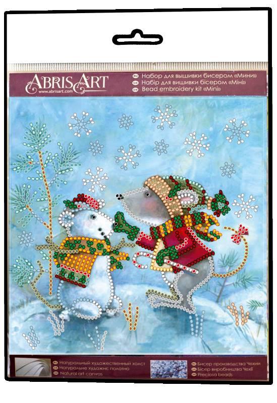 Buy Mini Bead embroidery kit - Snow friend-AM-212_1
