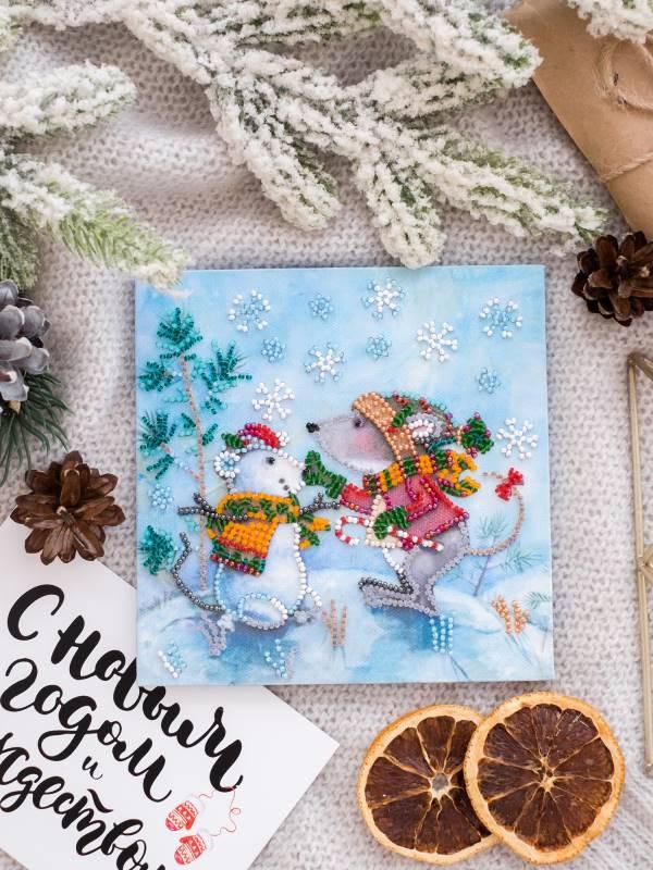 Buy Mini Bead embroidery kit - Snow friend-AM-212_3
