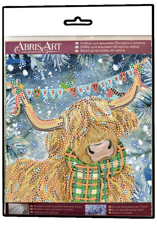 Buy Mini Bead embroidery kit - Christmas bull-AM-216_1