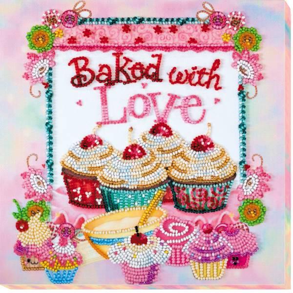 Buy Midi Bead embroidery kit - Baking from the Heart-AMB-003