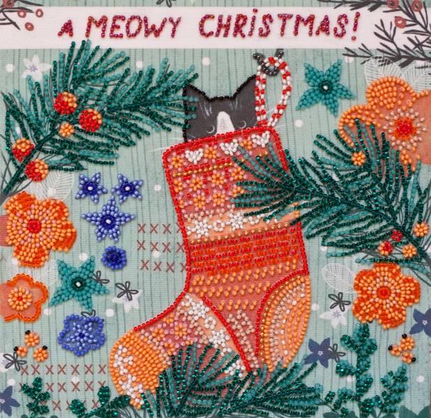 Buy Midi Bead embroidery kit - Meow-AMB-074
