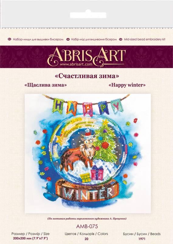 Buy Midi Bead embroidery kit - Happy winter-AMB-075_1