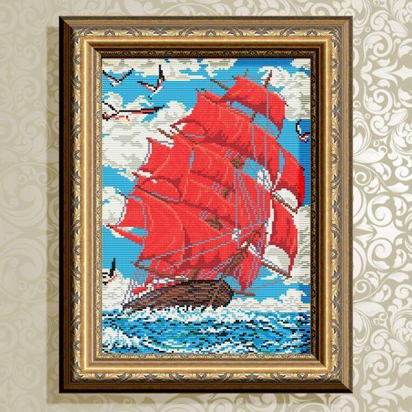 Buy Diamond painting kit - Scarlet Sails - AT3002