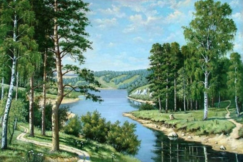 Buy Diamond painting kit-Forest river-DM-020