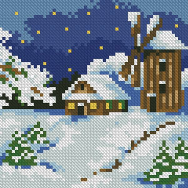 Buy Diamond painting kit-Winter landscape-DM-021