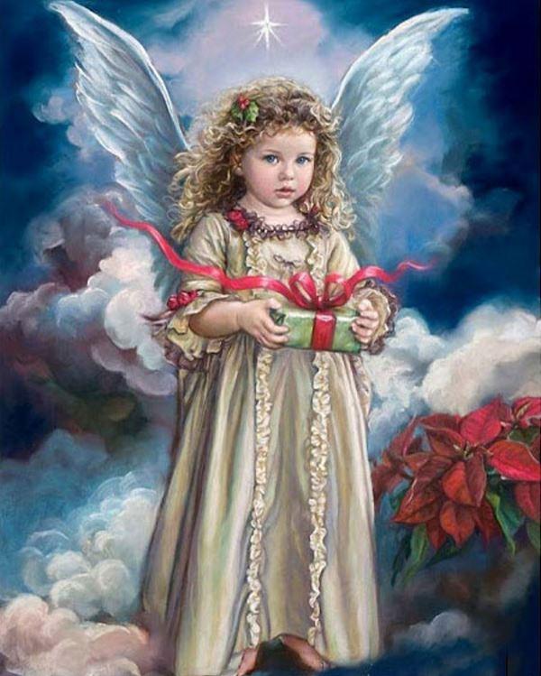 Buy Diamond painting kit-Surprise from angel-DM-159