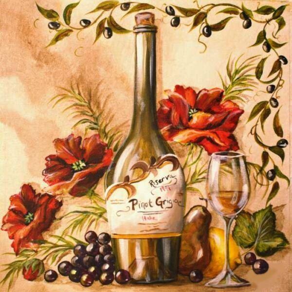 Buy Diamond painting kit-French wine-DM-219