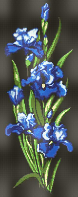Diamond painting kit-Blue Irises-DM-325