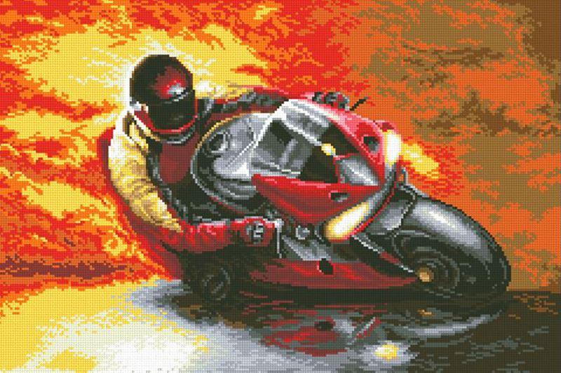 Buy Diamond painting kit-Motorcycle racer-DM-363