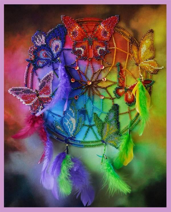 Buy Bead embroidery kit Dreamcatcher-P-127