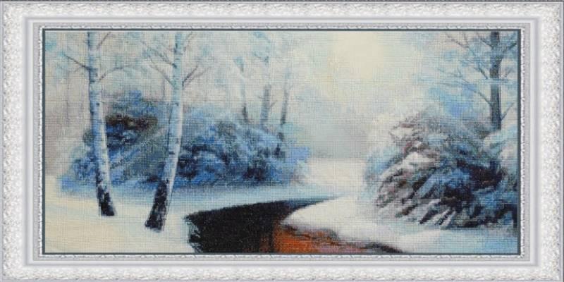 Buy Cross stitch kit Winter forest-VN-123